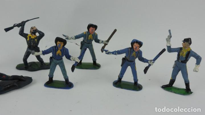 Figuras de Goma y PVC: 10 FIGURAS DEL SEPTIMO DE CABALLERIA, CABALLERIA REAMSA, JECSAN?, MIDEN 7 CMS. - Foto 3 - 170583320