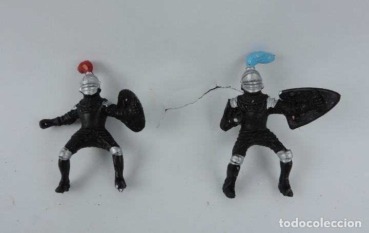 Figuras de Goma y PVC: 7 FIGURAS DE MEDIEVALES REALIZADOS EN GOMA, MADE IN CHINA, MIDEN 6 CMS. - Foto 4 - 170586750