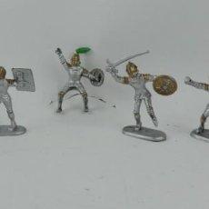 Figuras de Goma y PVC: 6 FIGURAS DE MEDIEVALES REALIZADOS EN GOMA, MADE IN CHINA, MIDEN 6 CMS.. Lote 170587800