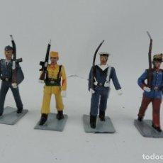 Figuras de Goma y PVC: 4 FIGURAS DE GUARDIA REAL, AVIACION, REGULAR, MARINA, GOMARSA, REAMSA, SOLDIS.. Lote 170627310