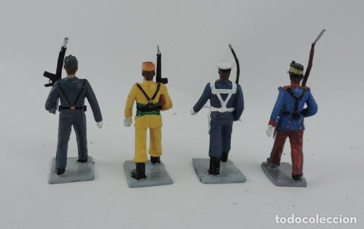 Figuras de Goma y PVC: 4 FIGURAS DE GUARDIA REAL, AVIACION, REGULAR, MARINA, GOMARSA, REAMSA, SOLDIS. - Foto 2 - 170627310