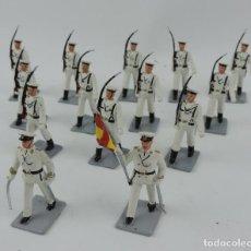 Figuras de Goma y PVC: 14 SOLDADOS DEL DESFILE DE MARINA DE GUERRA, REAMSA, GOMARSA, SOLDIS 70. REALIZADOS EN PLASTICO.. Lote 170665775
