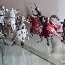 Figuras de Goma y PVC: LOTE FIGURAS GUERREROS Y CABALLEROS MEDIEVALES SCHLEICH VER FOTOS Y DESCRIPCIÓN MAS A LA VENTA. Lote 170667590