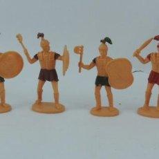 Figuras de Goma y PVC: 6 FIGURAS DE SOLDADOS ROMANOS, SARRACENOS?, REALIZADOS EN PLASTICO, MIDEN 8 CMS.. Lote 170721450