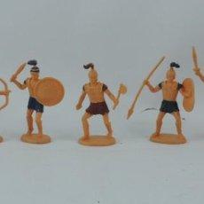 Figuras de Goma y PVC: 7 FIGURAS DE SOLDADOS ROMANOS, SARRACENOS?, REALIZADOS EN PLASTICO, MIDEN 8 CMS.. Lote 170722100