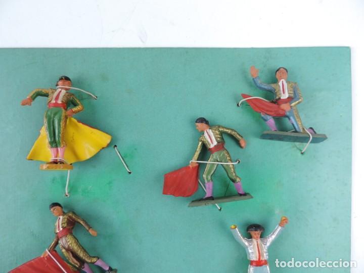 Figuras de Goma y PVC: 9 FIGURAS DE TOREROS, TOROS STARLUX, REALIZADOS EN PLASTICO, BANDERILLERO, MIDEN 5,5 CMS. - Foto 2 - 170728155