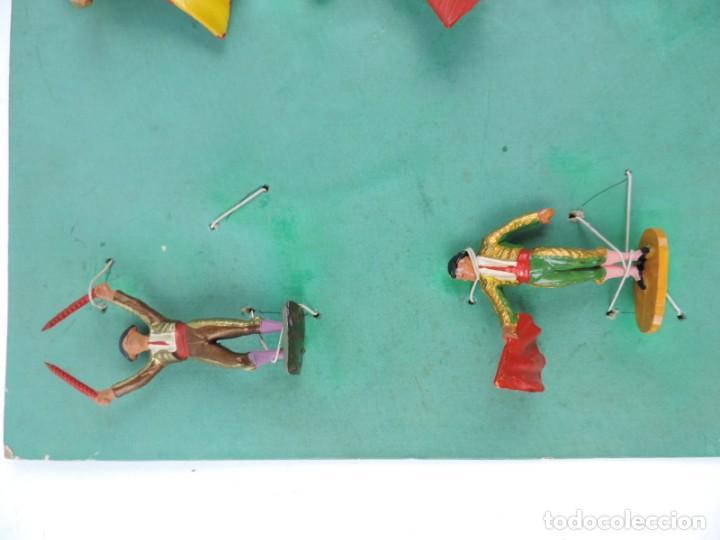 Figuras de Goma y PVC: 9 FIGURAS DE TOREROS, TOROS STARLUX, REALIZADOS EN PLASTICO, BANDERILLERO, MIDEN 5,5 CMS. - Foto 3 - 170728155