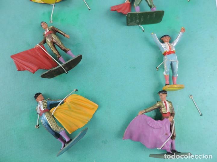 Figuras de Goma y PVC: 9 FIGURAS DE TOREROS, TOROS STARLUX, REALIZADOS EN PLASTICO, BANDERILLERO, MIDEN 5,5 CMS. - Foto 4 - 170728155