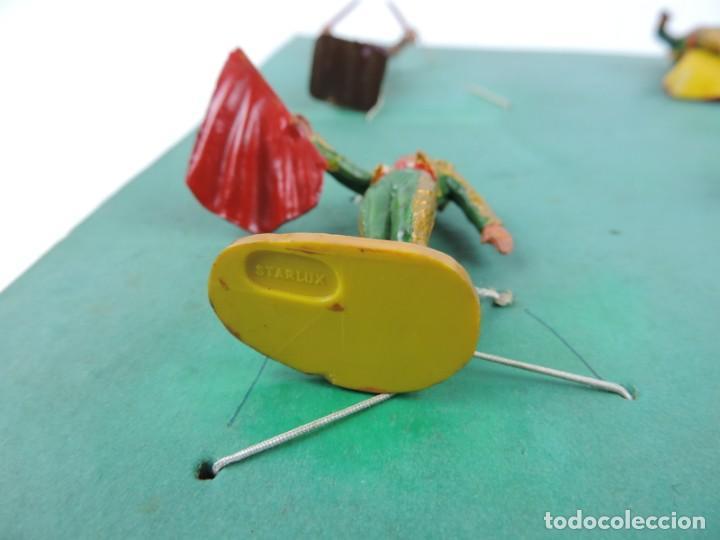 Figuras de Goma y PVC: 9 FIGURAS DE TOREROS, TOROS STARLUX, REALIZADOS EN PLASTICO, BANDERILLERO, MIDEN 5,5 CMS. - Foto 5 - 170728155