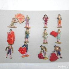 Figuras de Goma y PVC: 12 TOREROS REALIZADOS EN PLASTICO, AÑOS 60, ALGUNOS DE ELLOS TIENEN LOS BRAZOS MOVILES, VARIAS MARCA. Lote 170898730