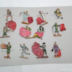 Figuras de Goma y PVC: 12 TOREROS REALIZADOS EN PLASTICO, AÑOS 60, VARIAS MARCAS, REAMSA, JECSAN... MIDEN 7 CMS.. Lote 170899010