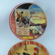 Figuras de Goma y PVC: PLAZA DE TOROS DE LA CAPITAL, JECSAN, CON 7 TOREROS Y TORO, BUEN ESTADO, MIDE 28 CM. DE DIAMETRO Y 5. Lote 170900150