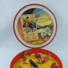 Figuras de Goma y PVC: PLAZA DE TOROS ARTESANAL, CONTIENE 11 TOREROS Y 1 TORO, LA PLAZA FUE REALIZADA POR UN COLECCIONISTA,. Lote 170901530