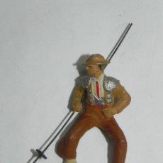 Figuras de Goma y PVC: FIGURA PICADOR REALIZADO EN GOMA POR PECH HERMANOS. TOROS, TAUROMAQUIA, TORERO. MIDE 5,7 CMS.. Lote 170904795