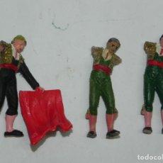 Figuras de Goma y PVC: 3 TOREROS DE TEIXIDO, LE FANTAN LOS BRAZOS, REALIZADOS EN PLASTICO, MIDEN 6 CMS.. Lote 170917150