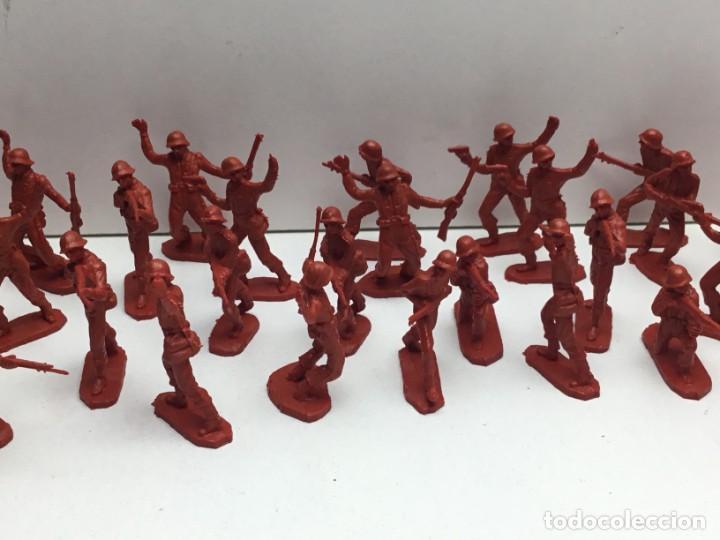 Figuras de Goma y PVC: LOTE SOLDADOS DE PLASTICO MILITAR AÑOS 70 - Foto 3 - 171011634
