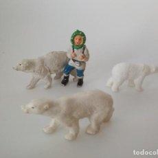 Figuras de Goma y PVC: FIGURAS ESQUIMAL SOTORRES GOMA Y OSOS POLARES. Lote 171123537