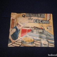Figuras de Goma y PVC: SOBRE SORPRESA SIN ABRIR BATERIA DE COCINA HOBBY PLAST CON CONTENIDO. Lote 171167355
