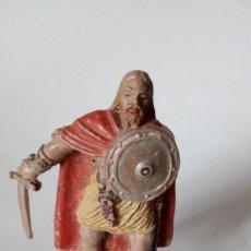 Figuras de Goma y PVC: FIGURA VIKINGO DE GOMA. Lote 171191297