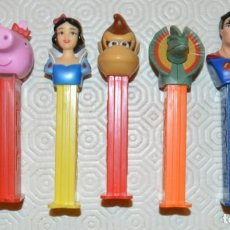 Dispensador Pez: LOTE 7 - SUPERMAN. PITUFO, DINOSAURIO, PEPA, BUZZ, . Lote 171208758