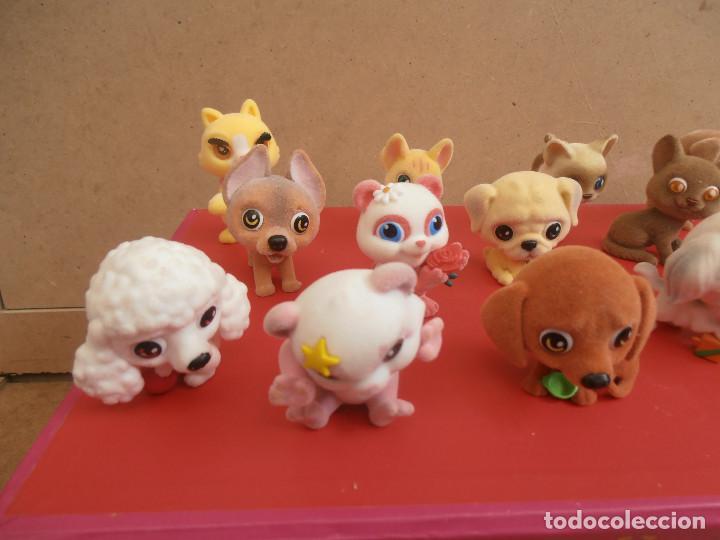 Figuras de Goma y PVC: LOTE ANIMALES TERCIOPELO -- GATOS - PERROS - Foto 2 - 171247572