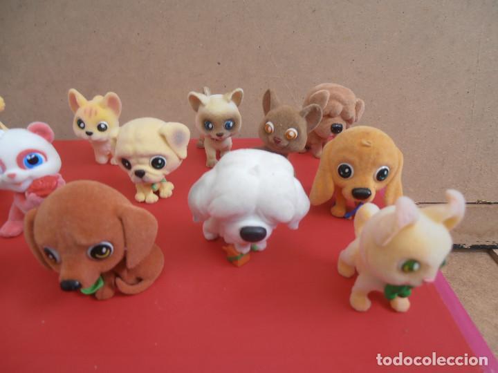 Figuras de Goma y PVC: LOTE ANIMALES TERCIOPELO -- GATOS - PERROS - Foto 3 - 171247572