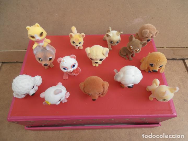 Figuras de Goma y PVC: LOTE ANIMALES TERCIOPELO -- GATOS - PERROS - Foto 4 - 171247572