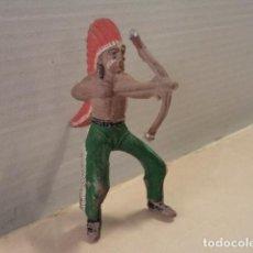 Figuras de Goma y PVC: FIGURA DE GOMA INDIO REAMSA. Lote 171336340