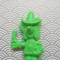 Figuras de Goma y PVC: FIGURA MUÑECO GOMA DE BORRAR VERDE RICITOS MASQUESERO - CHEETOS MATUTANO - NUEVA SIN USO DIFICIL. Lote 171351673