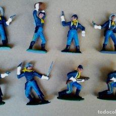 Figuras de Goma y PVC: FIGURA 7º DE CABALLERÍA SERIE FEDERALES COMANSI-JECSAN FIGURA DE PLÁSTICO FEDERAL YANKEE. Lote 171358754