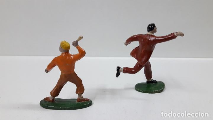 Figuras de Goma y PVC: ROBERTO ALCAZAR Y PEDRIN . REALIZADOS POR JIN . AÑOS 50 EN GOMA - Foto 2 - 171436008
