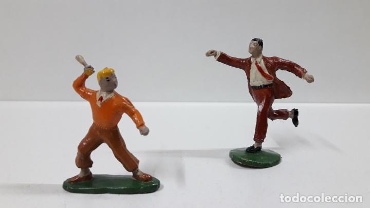 ROBERTO ALCAZAR Y PEDRIN . REALIZADOS POR JIN . AÑOS 50 EN GOMA (Juguetes - Figuras de Goma y Pvc - Estereoplast)