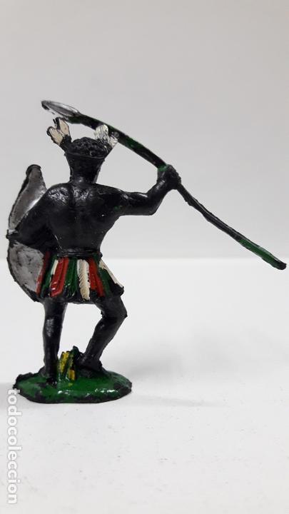 Figuras de Goma y PVC: GUERRERO AFRICANO NEGRO . REALIZADO POR LAFREDO . SERIE TARZAN . AÑOS 50 EN GOMA - Foto 2 - 171440019