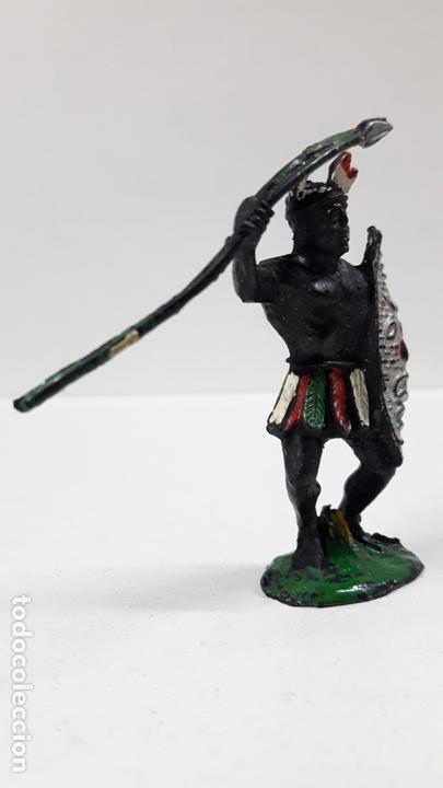 Figuras de Goma y PVC: GUERRERO AFRICANO NEGRO . REALIZADO POR LAFREDO . SERIE TARZAN . AÑOS 50 EN GOMA - Foto 4 - 171440019