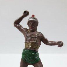 Figuras de Goma y PVC: GLADIADOR . REALIZADO POR GAMA . SERIE ROMA Y GLADIADORES . AÑOS 50 EN GOMA. Lote 171510293