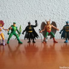 Figuras de Goma y PVC: LOTE 5 SUPER HÉROES DE LA DC COMICS - COMICS SPAIN GREEN ARROW FLECHA VERDE STARFIRE BATMAN HAWKMAN. Lote 171523070