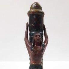 Figuras de Goma y PVC: INDIO ATADA A POSTE . FIGURAS 36 / 37 . REALIZADAS POR REAMSA . AÑOS 50 EN GOMA. Lote 171606328