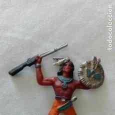 Figuras de Goma y PVC: FIGURA ANTIGUA DEL OESTE: INDIO DE COMANSI, AÑOS 60. Lote 171616617
