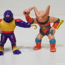 Figuras de Goma y PVC: LOTE 2 MUÑECOS / LOS GUERREROS DE LA BASURA / 1991 L.G.T.I.. Lote 171636869