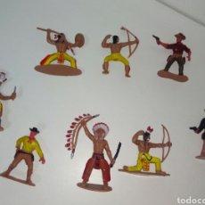 Figuras de Goma y PVC: INDIOS I VAQUEROS DE GOMA REAMSA COMANSI LAFREDO. Lote 171641409