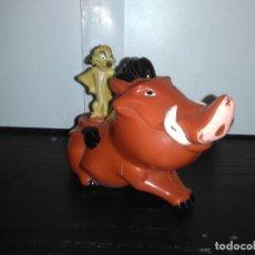 Figuras de Goma y PVC: MUÑECO FIGURA TIMÓN PUMBA REY LEÓN DISNEY MD . Lote 171722663