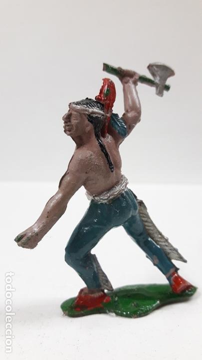 Figuras de Goma y PVC: GUERRERO INDIO ATACANDO . REALIZADO POR LAFREDO . AÑOS 50 EN GOMA - Foto 2 - 171724594