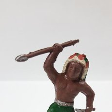 Figuras de Goma y PVC: GUERRERO INDIO . POSIBLEMENTE REALIZADO POR CAPELL O FABRICANTE DE LA EPOCA . AÑOS 50 EN GOMA. Lote 171731813