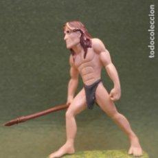 Figuras de Goma y PVC: FIGURA EN GOMA/PVC DE TARZAN CON LANZA - DISNEY - FIGURA BULLYLAND - 11 CM -. Lote 171733325