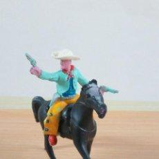 Figuras de Goma y PVC: COWBOY CON CABALLO DE MANEL SOTORRES AÑOS 60. Lote 171796503