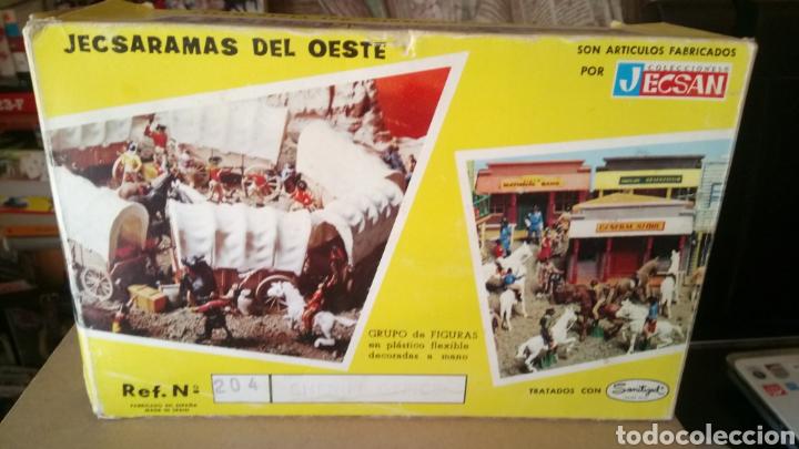 Figuras de Goma y PVC: CAJA VACÍA JECSARAMAS DEL OESTE. SHERIFF OFFICE. REF. 204. JECSAN. - Foto 2 - 171886087
