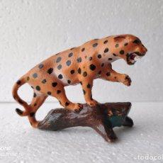 Figuras de Goma y PVC: LEOPARDO EN ÁRBOL DE REISLER. Lote 171926828