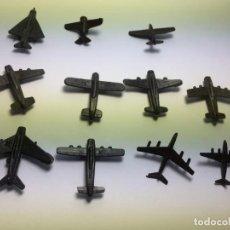 Figuras de Goma y PVC: LOTE DE AVIONES NEGROS MONTAPLEX. Lote 172092593