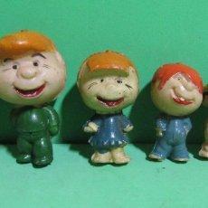 Figuras de Goma y PVC: LA FAMILIA TELERIN LOS 6 COMPONENTES EN PLASTICO DURO ORIGINALES DE LOS AÑOS 60/70. Lote 172249932