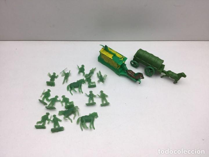 Figuras de Goma y PVC: LOTE FIGURAS DE GOMA - FOTOKEKI - MONTAPLEX - DILIGENCIA WELLSS - FARGO - AÑOS 70 - Foto 4 - 172270342